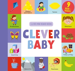 Clever Baby 9 Mini Board Book Box Set