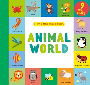 Animal World 9 Mini Board Book Box Set