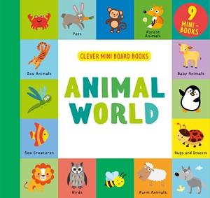 Animal World 9 Mini Board Book Box Set