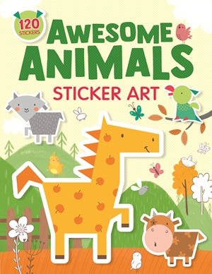 Awesome Animals Sticker Art